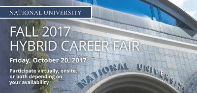 National University Hosting First Hybrid Fall Career Fair