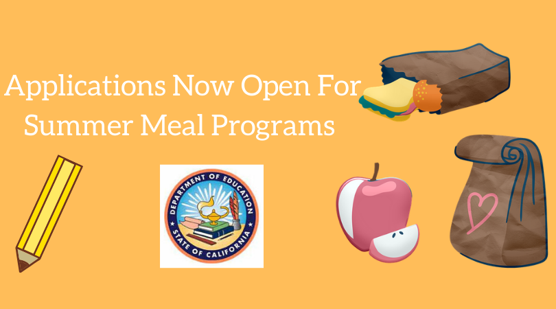 Applications Available For Two Programs That Will Serve Free Meals To Students When School Is Out Of Session.