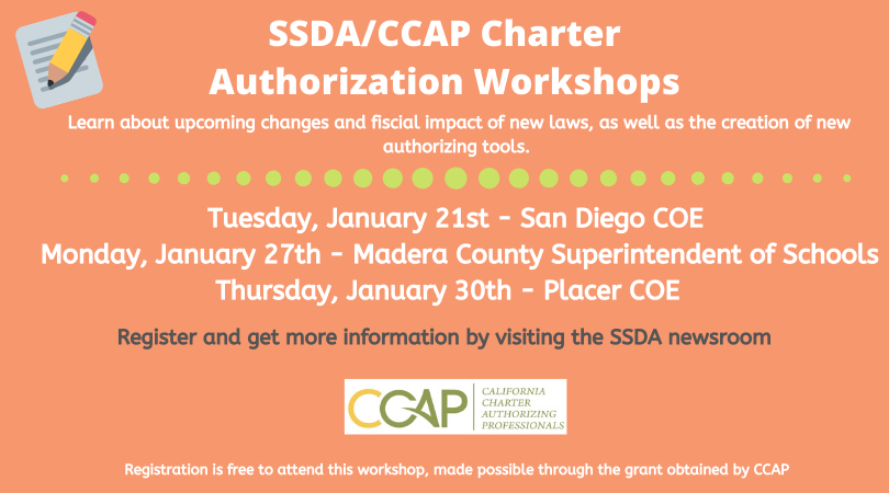 SSDA | CCAP Charter Authorization Workshops