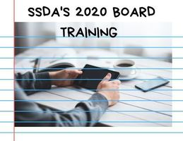 Sign up now for SSDA's 2020 Board Training!