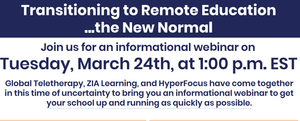 Transitioning To Remote Education | Sign Up For The March 24 Webinar