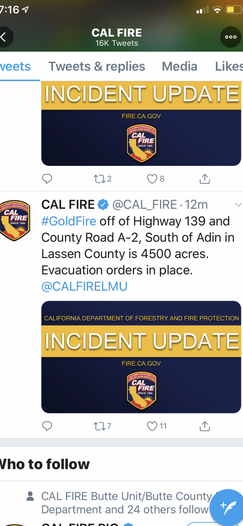 Gold fire affects Lassen and Modoc counties